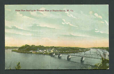 SHEPHERDSTOWN, WV. - THE HORSE SHOE BEND OF THE POTOMAC RIVER - EARLY POSTCARD