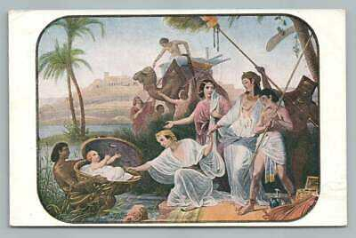 Moses in the Rushes WATCH TOWER Bible Postcard Antique Jehovah's Witness 1919