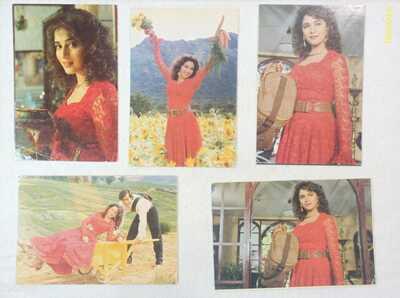 "Bollywood Actors: Madhuri Dixit & Salman Khan in ""HAHK"" Lot 26 Rare post cards"