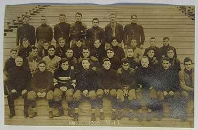 1908 Football Varsity University of Illinois RPPC Postcard