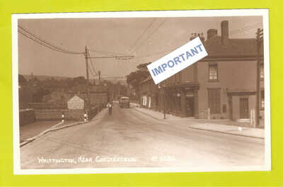 RP Whittington Chesterfield Tram Cables Trolley Bus ? Pattison Grocer CornerShop