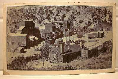 1919 POSTCARD EMPIRE ZINC MILL KELLY NEW MEXICO
