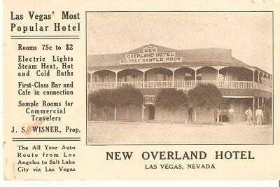 POSTCARD - NEW OVERLAND HOTEL, LAS VEGAS, NV, CIRCA 1915