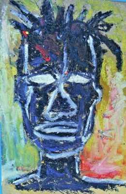 Guaranteed Jean-Michel Basquiat original 1980 rare Graffiti portrait postcard NR