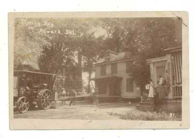 MOVING DAY NEWARK DE~RPPC~CIRCA 1910