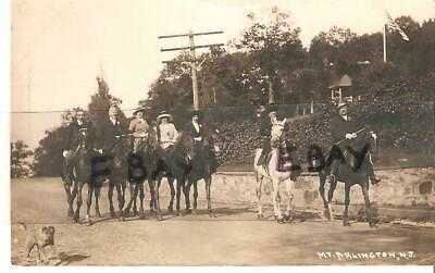 RPPC - GROUP ON HORSEBACK - MT. ARLINGTON, NJ