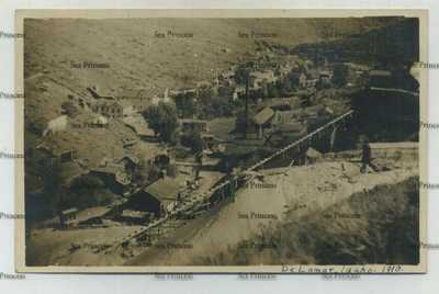 USA postcard Idaho Owyhee ghost village Delamar 1910 mine De Lamar gold silver