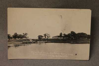 Houston San Jacinto Battle Ground Dance Pavilion Pier RPPC Texas Real Photo Post