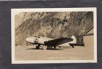 Real Photo Postcard RPPC:  White Pass Airways Plane, Skagway Alaska