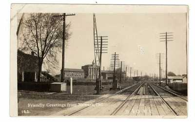 RPPC NEWARK DELAWARE~JACOB THOMAS WALLPAPER FACTORY~B & O RAILROAD~CIRCA1910
