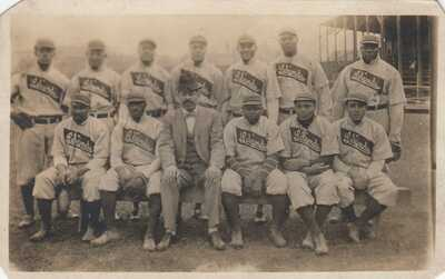 RP: Lelands Giants Black Baseball Team , Chicago , Illinois , 1907