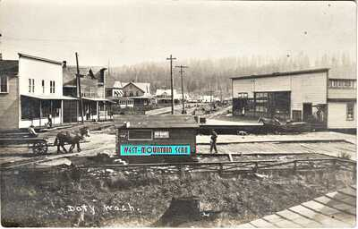 DOTY WA ~ MAIN STREET & TOWN VIEW REAL PHOTO ~ RPPC ~ SCARCE LOCATION ~ WOW!