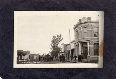 RPPC Real Photo Postcard: stagecoach on mail street - Joseph, Oregon