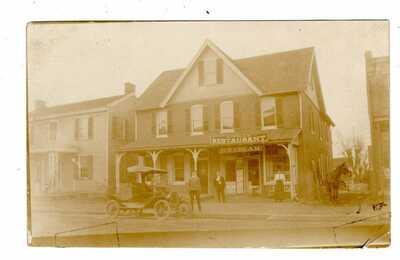RPPC POWELL'S RESTAURANT ~CIRCA 1908~NEWARK, DELAWARE