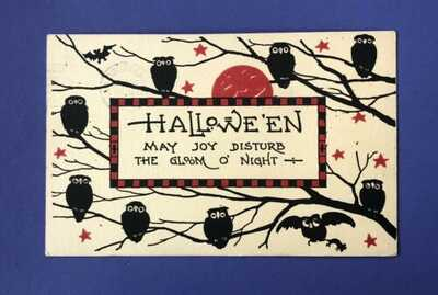 Vintage 1910s Halloween Post Card • Bergman