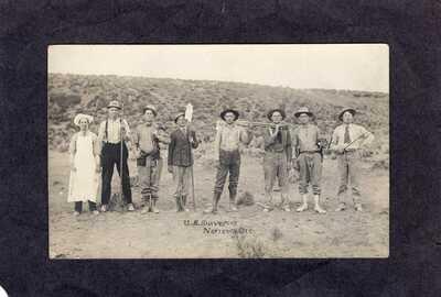 "RPPC Real Photo Postcard: U.S. Surveyors ""Narrows"", Oregon"