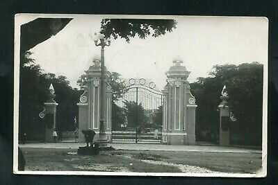 1934 RPPC postcard CHINA big gates CANTON used stamp cancels IOWA real photo RP