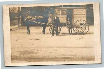 Owensboro KY RPPC Highland Dairy Black Americana Delivery Boy Kentucky Postcard