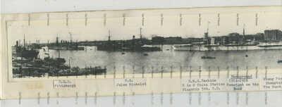 China photo Shanghai Bund panorama 1920s all royal navy French ships named 50cm