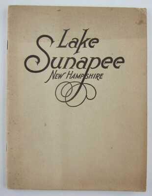 Lake Sunapee NH Boston and Maine Railroad MAP 1916 Travel Guide Steamboats