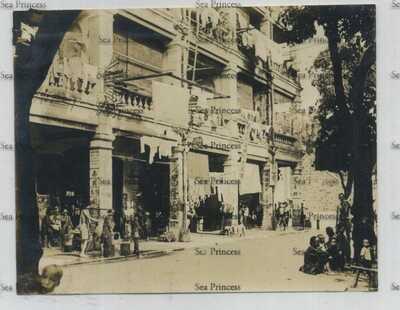 Hong Kong China photo a Kowloon street Nam Ming sign  1924