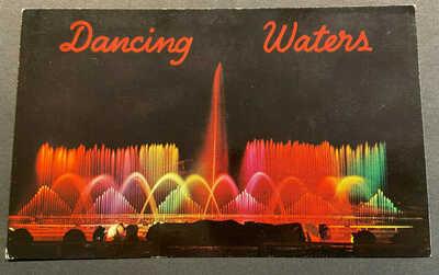 Disneyland Anaheim Vintage Postcard – DISNEYLAND HOTEL – DANCING WATERS # P2