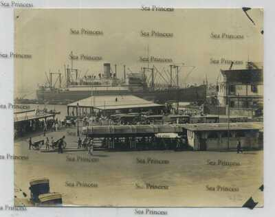 Hong Kong Kowloon 1924 photo Godowin dock SS President Jefferson Admiral Line