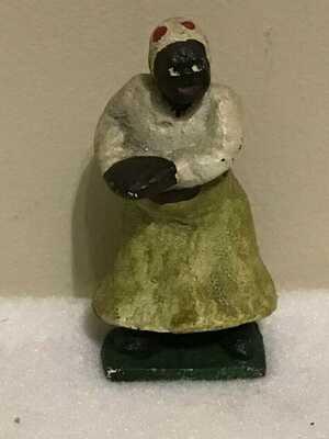 Vintage Black Americana Black Woman Metal Figurine