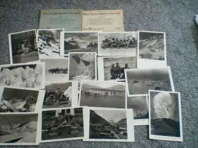 Ma Mount Everest Expedition vintage post cards 18 in total with two envelopes