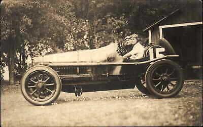 Indy Auto Racing #15 Harry Grant Harold Smith & Sunbeam Car 1915 RPPC