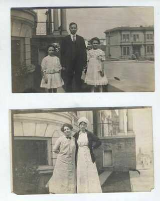 """1913 SAN FRANCISCO 399 Webster St Chinese Cook CHIN 3 Photos 3 1/4"""" x 5 1/2"""""""