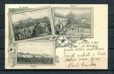 SLOVENIA  AUSTRIA 1900  postc. canc. collettoria BERJE (REIFENBERG) stamped