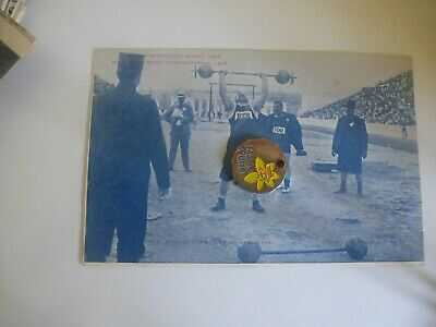 Greece Athens Olympics 1906 Dimitrios Tofalos & Joseph Steinbach Weightlifters