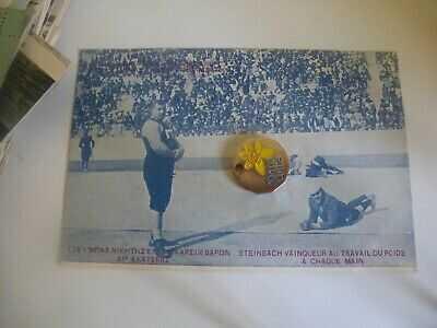 Greece Athens Olympics 1906 Wrestling Mat Animated Scene Postcard