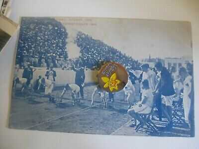 Greece Athens Olympics 1906 100 Metres Start Animated Scene Postcard