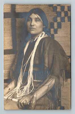 RPPC Native American Girl - Carlisle PA Indian School Nez Perce Vintage Postcard