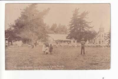 Lake Tyers Aboriginal Mission House & Church c.1907 RPPC