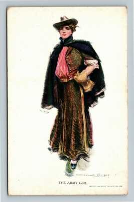 Jamestown Exposition - The Army Girl by Christy Vintage c1907 Postcard