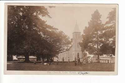 Lake Tyers The Church at the Aboriginal Mission c.1922 RPPC