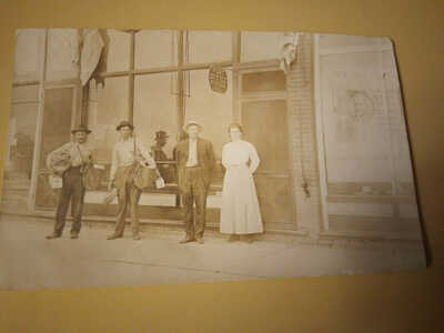 Fisher,Illinois Picture post card,dated Aug 13 1910,marked Post Office force.