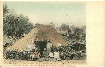 Hilo HI Native House #2571 Publ Karl Lewis Yokohama c1905 Postcard