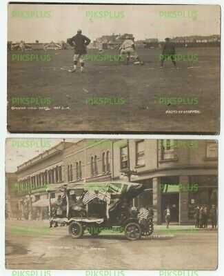 NORTH AMERICAN BASEBALL POSTCARDS UNLOCATED OPENING BALL GAME REAL PHOTO 1914