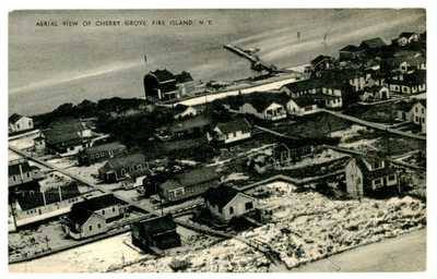 Cherry Grove LI NY - BIRDSEYE VIEW OF COTTAGES - Postcard Fire Island