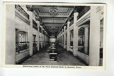 Lobby of First National Bank Houston TX