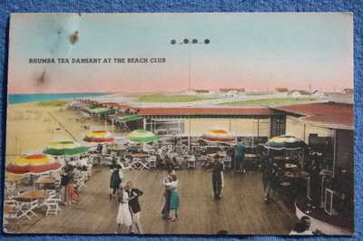 Circa 1930 Indian Beach Club,  Rehoboth Beach Delaware Postcard