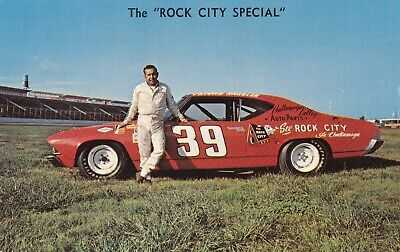 "FRIDAY  HASSLER #39  ""ROCK CITY SPECIAL"" chevrolet CHEVELLE 1969 postcard/SCARCE"