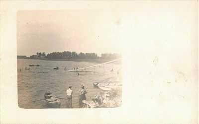 c.1905 RPPC Toboggan Chute Russell's Point Lake Ivanhoe Orlando FL
