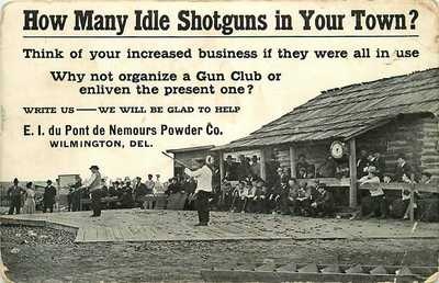 Postcard Organize a Gun Club - E I du Pont Nemours Powder Co Wilmington Delaware