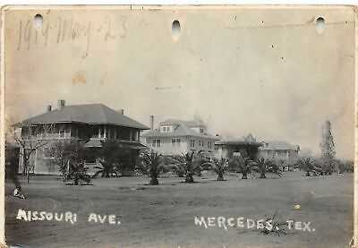 G56/ Mercedes Texas RPPC Postcard 1919 Missouri Avenue Homes