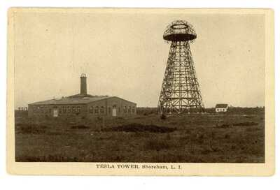 Shoreham LI NY -NIKOLA TESLA TOWER-WARDENCLYFFE TOWER- Postcard